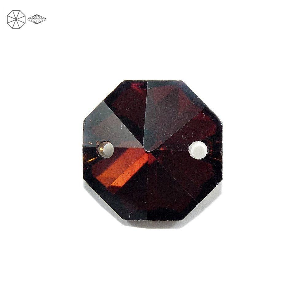 Alongador Castanha de Cristal 2 Saídas - 14mm  - Nathalia Bijoux®
