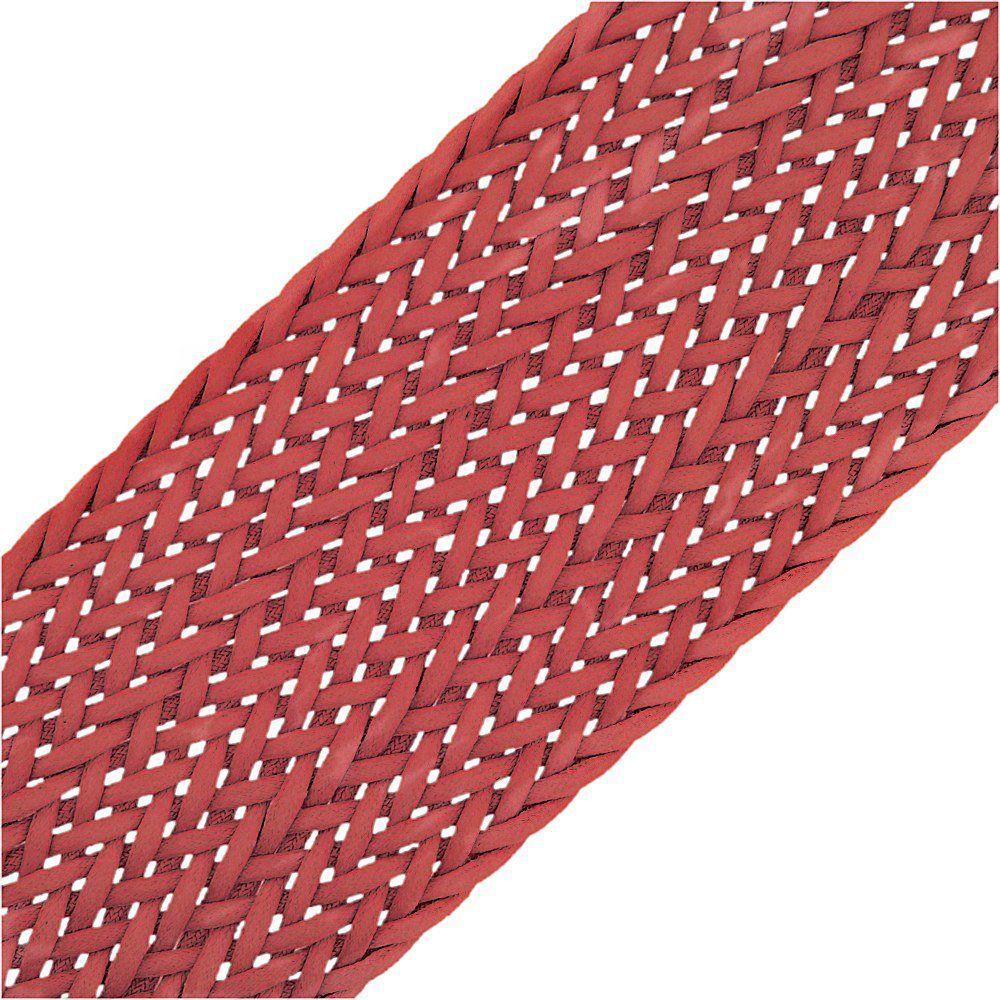 Cordão Encerado Trançado - Vermelho - 50mm - 10m  - Nathalia Bijoux®