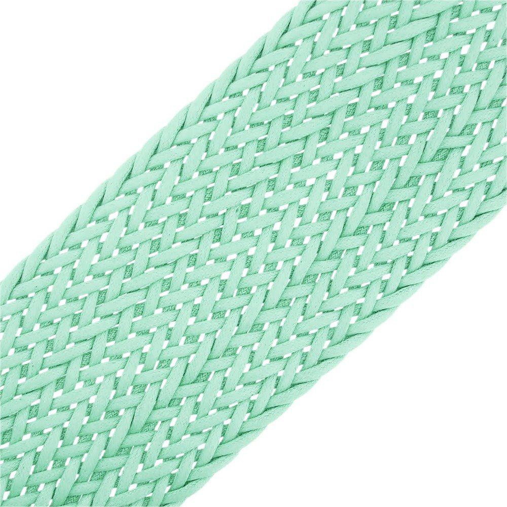 Cordão Encerado Trançado - Verde Água - 50mm - 10m  - Nathalia Bijoux®