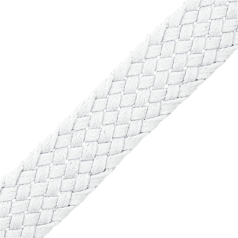 Cordão Encerado Trançado - Branco - 23mm - 25m  - Nathalia Bijoux®