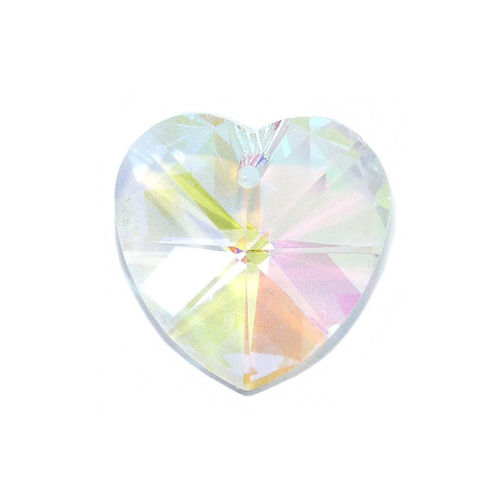 Pingente Coração de Cristal - 18mm  - Nathalia Bijoux®