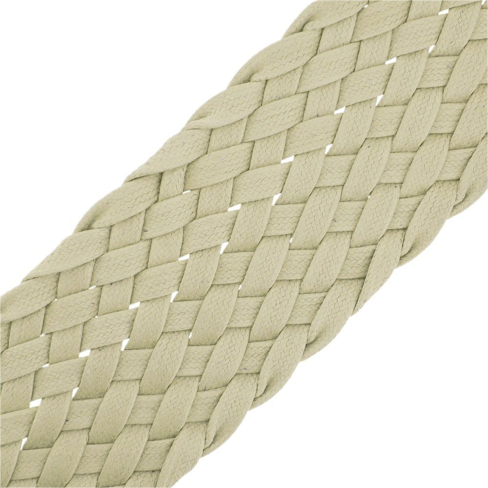 Cordão Encerado Trançado - Marfim (142) - 52mm - 25m  - Nathalia Bijoux®