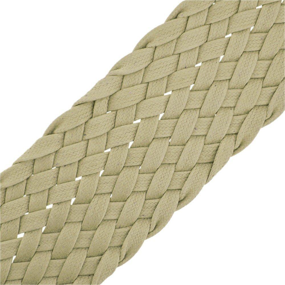 Cordão Encerado Trançado - Marfim (338) - 52mm - 25mm  - Nathalia Bijoux®