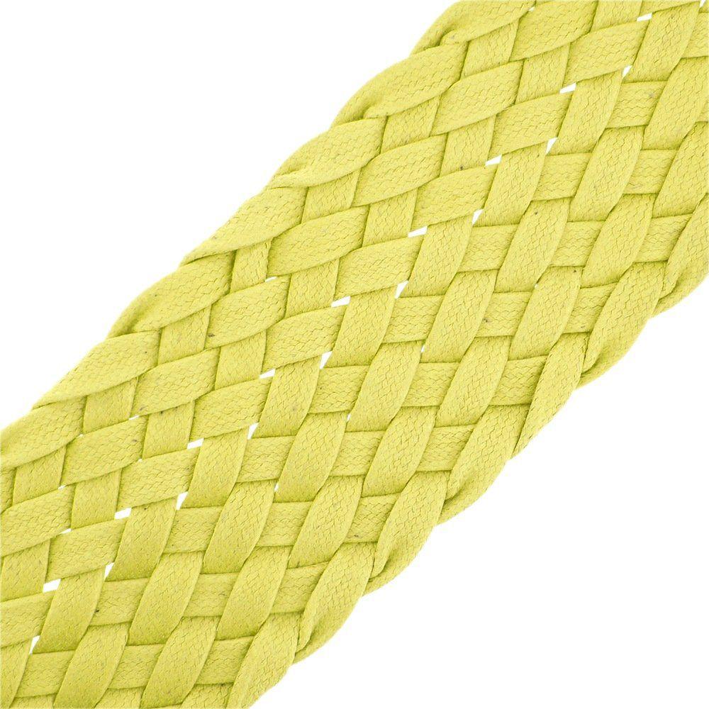 Cordão Encerado Trançado - Amarelo - 52mm - 25m  - Nathalia Bijoux®