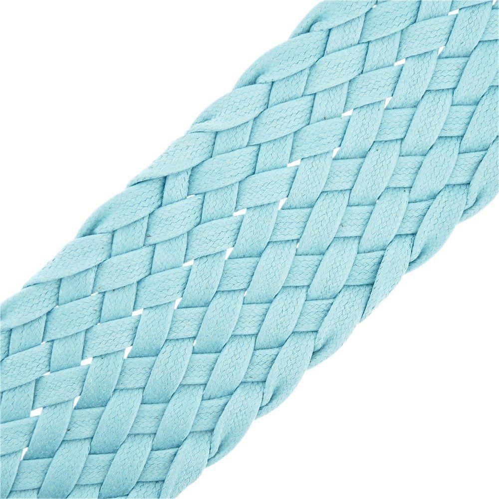 Cordão Encerado Trançado - Azul - 52mm - 25m  - Nathalia Bijoux®