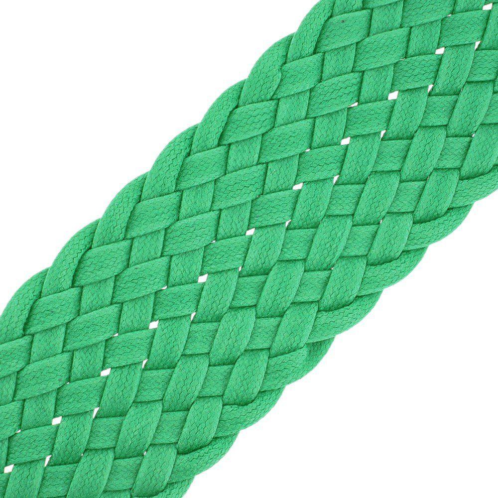Cordão Encerado Trançado - Verde - 52mm - 25m  - Nathalia Bijoux®