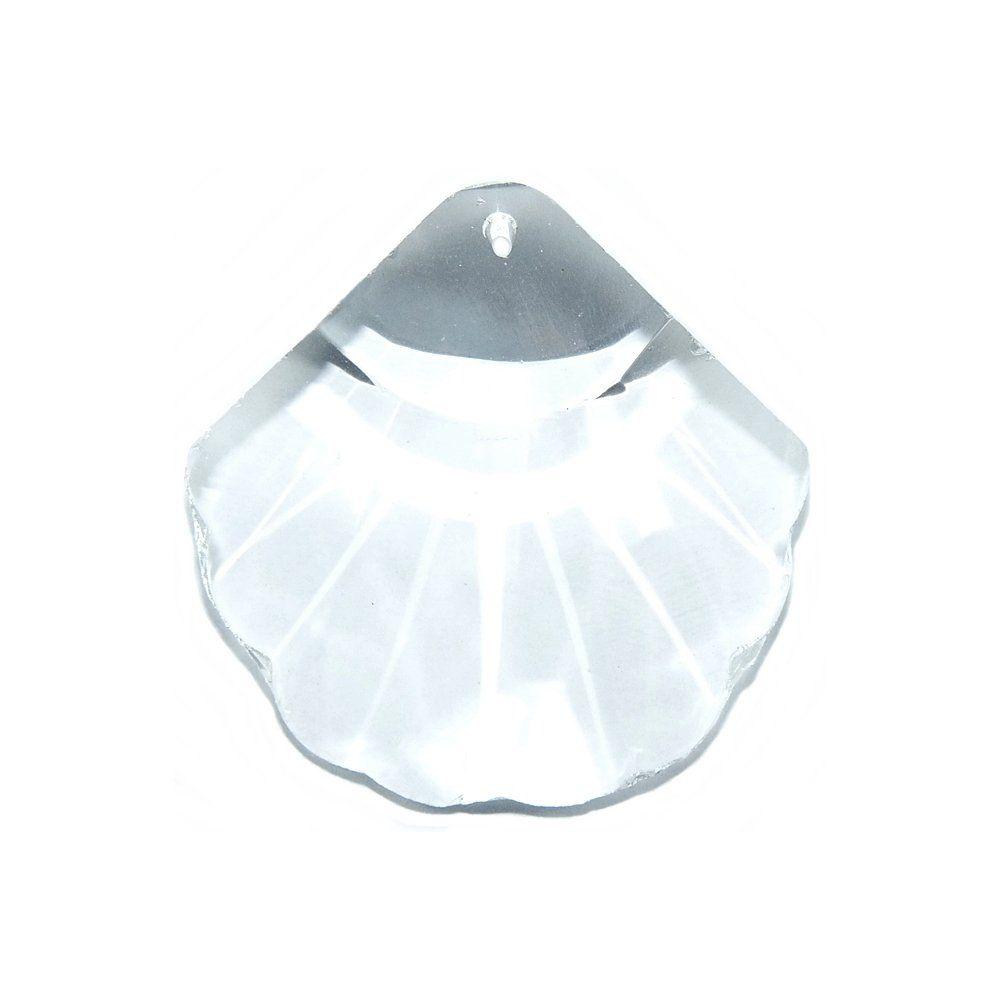 Pingente Concha de Cristal - 36mm  - Nathalia Bijoux®
