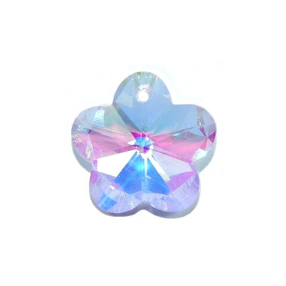 Pingente Flor de Cristal - 13mm  - Nathalia Bijoux®