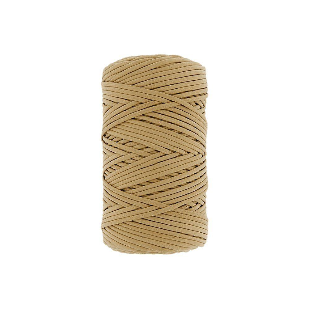 Cordão Encerado - Bege (021) - 1mm - 100m  - Nathalia Bijoux®
