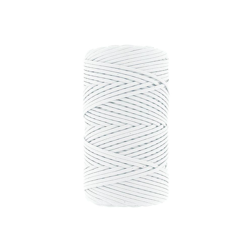 Cordão Encerado - Branco Alvejado (099) - 1mm - 100m  - Nathalia Bijoux®