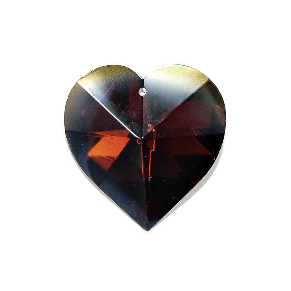 Pingente Coração de Cristal - 40mm  - Nathalia Bijoux®