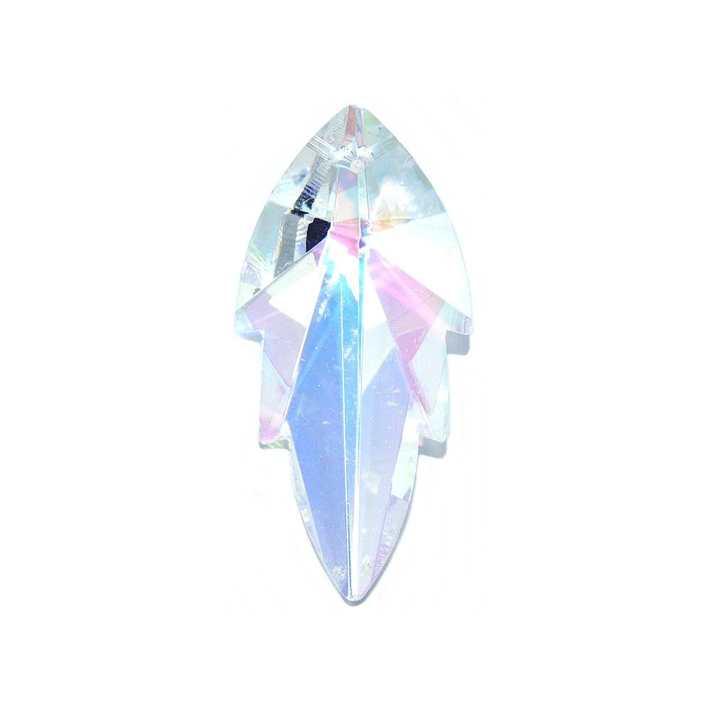 Pingente Folha/Asa de Cristal - 57mm  - Nathalia Bijoux®