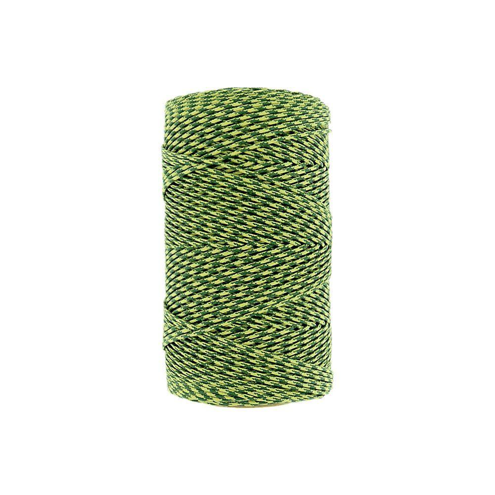 Cordão Encerado - Verde (423) com Amarelo (011) - 1mm - 100m  - Nathalia Bijoux®