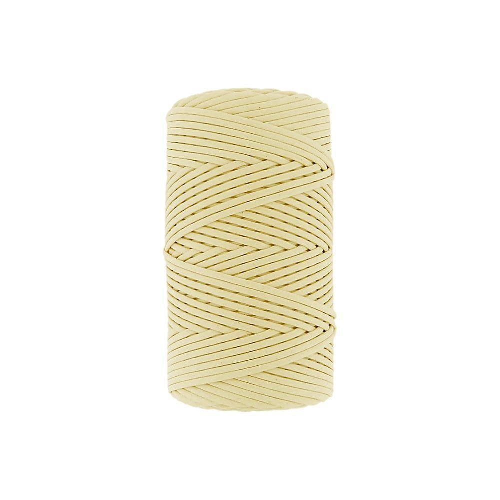 Cordão Encerado - Amarelo Bebê (401) - 2mm - 100m  - Nathalia Bijoux®