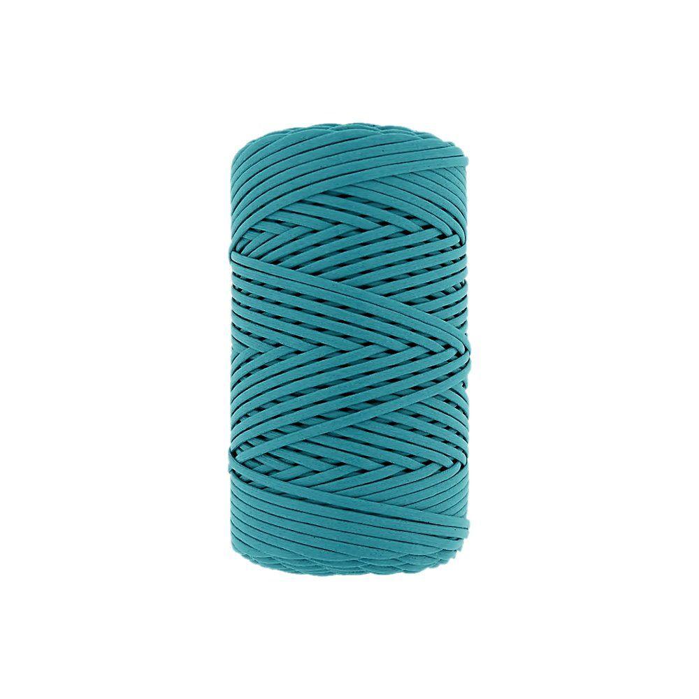 Cordão Encerado - Azul Piscina (414) - 2mm - 100m  - Nathalia Bijoux®