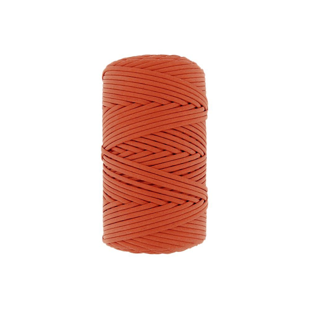 Cordão Encerado - Laranja Cítrico (460) - 2mm - 100m  - Nathalia Bijoux®