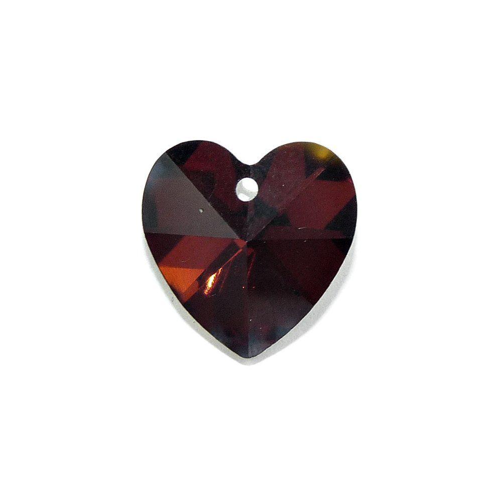 Pingente Coração de Cristal - 14mm  - Nathalia Bijoux®