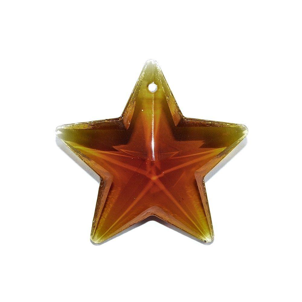 Pingente Estrela de Cristal - 39mm  - Nathalia Bijoux®