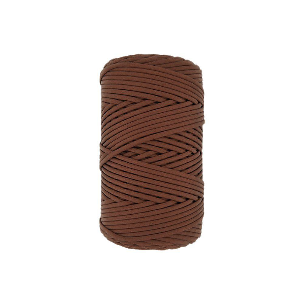 Cordão Encerado - Conhaque (3033) - 3mm - 100m  - Nathalia Bijoux®