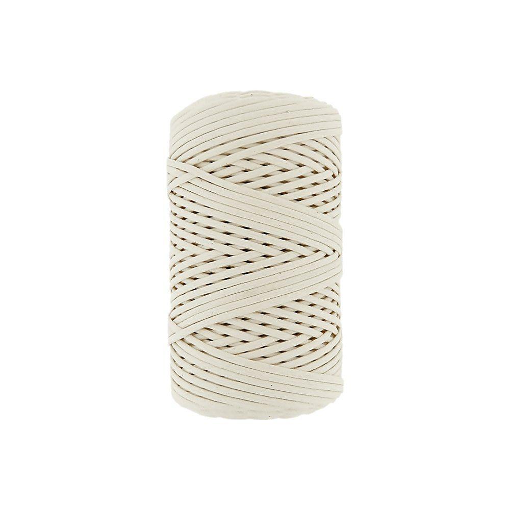 Cordão Encerado - Cru (100) - 3mm - 100m  - Nathalia Bijoux®