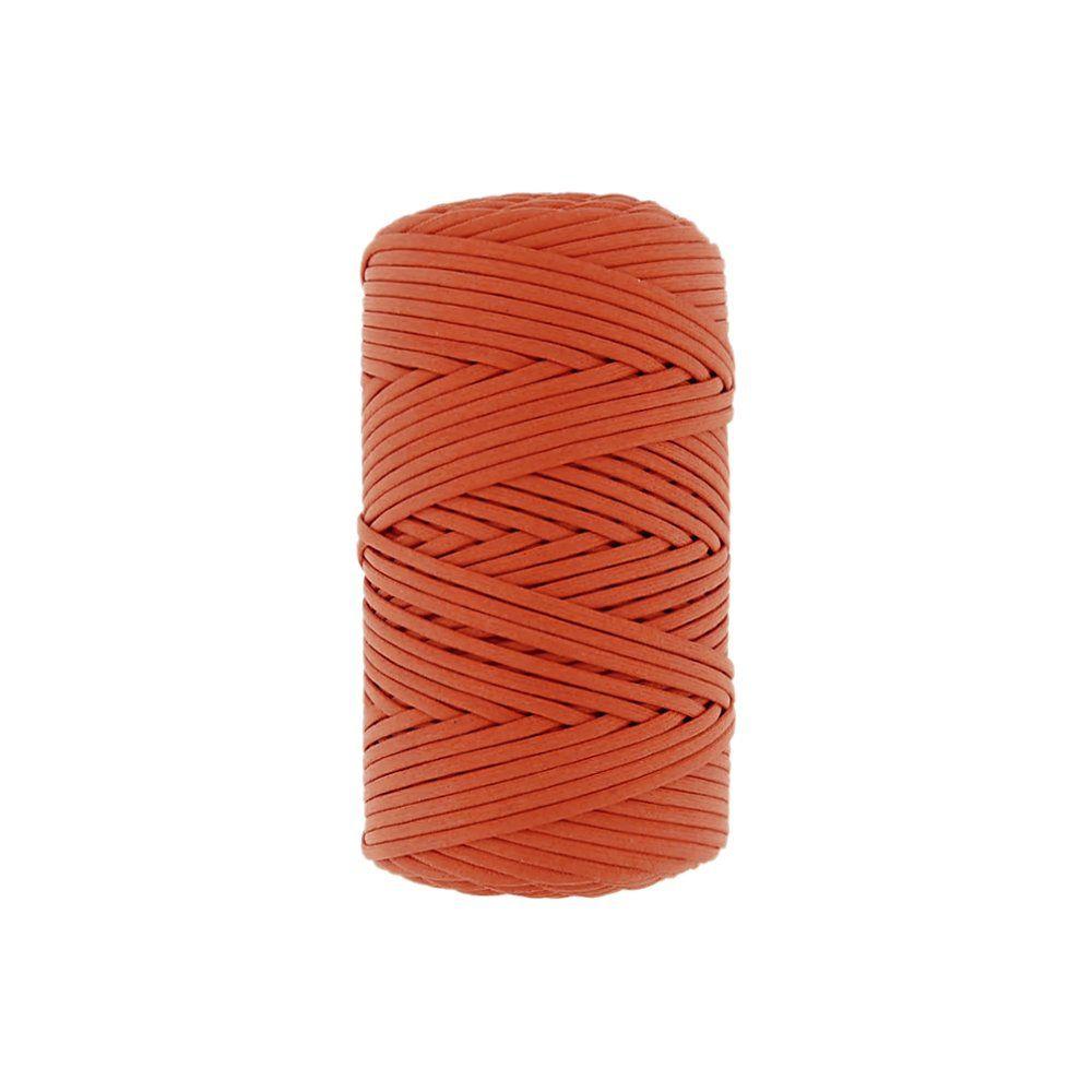 Cordão Encerado - Laranja Cítrico (460) - 3mm - 100m  - Nathalia Bijoux®