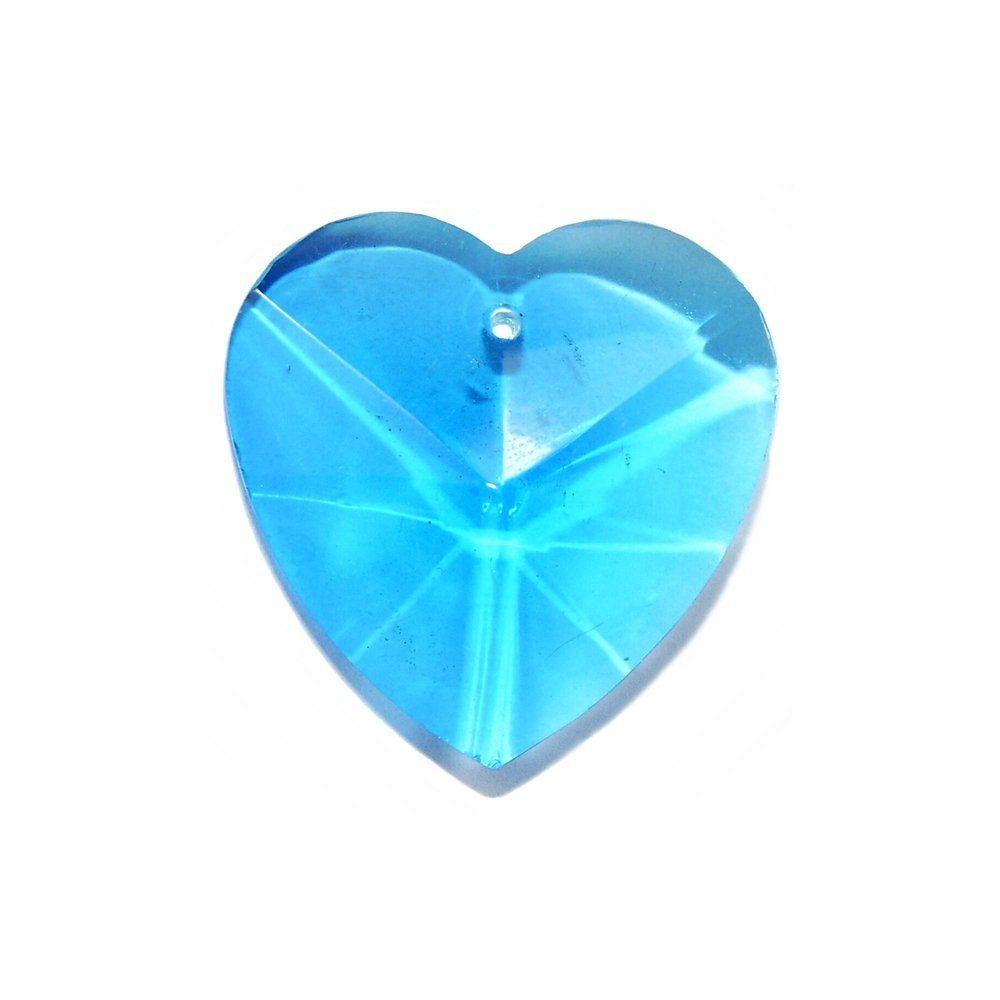 Pingente Coração de Cristal - 28mm  - Nathalia Bijoux®