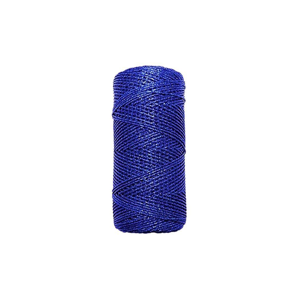 Cordão de Lurex - Azul Royal - 1mm - 100m  - Nathalia Bijoux®
