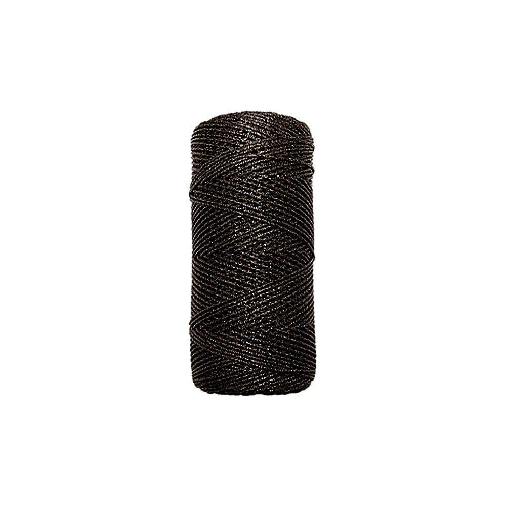 Cordão de Lurex - Café - 1mm - 100m  - Nathalia Bijoux®
