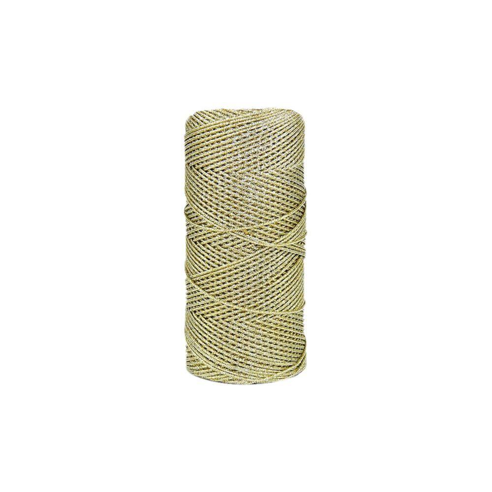 Cordão de Lurex - Dourado com Prata - 1mm - 100m  - Nathalia Bijoux®