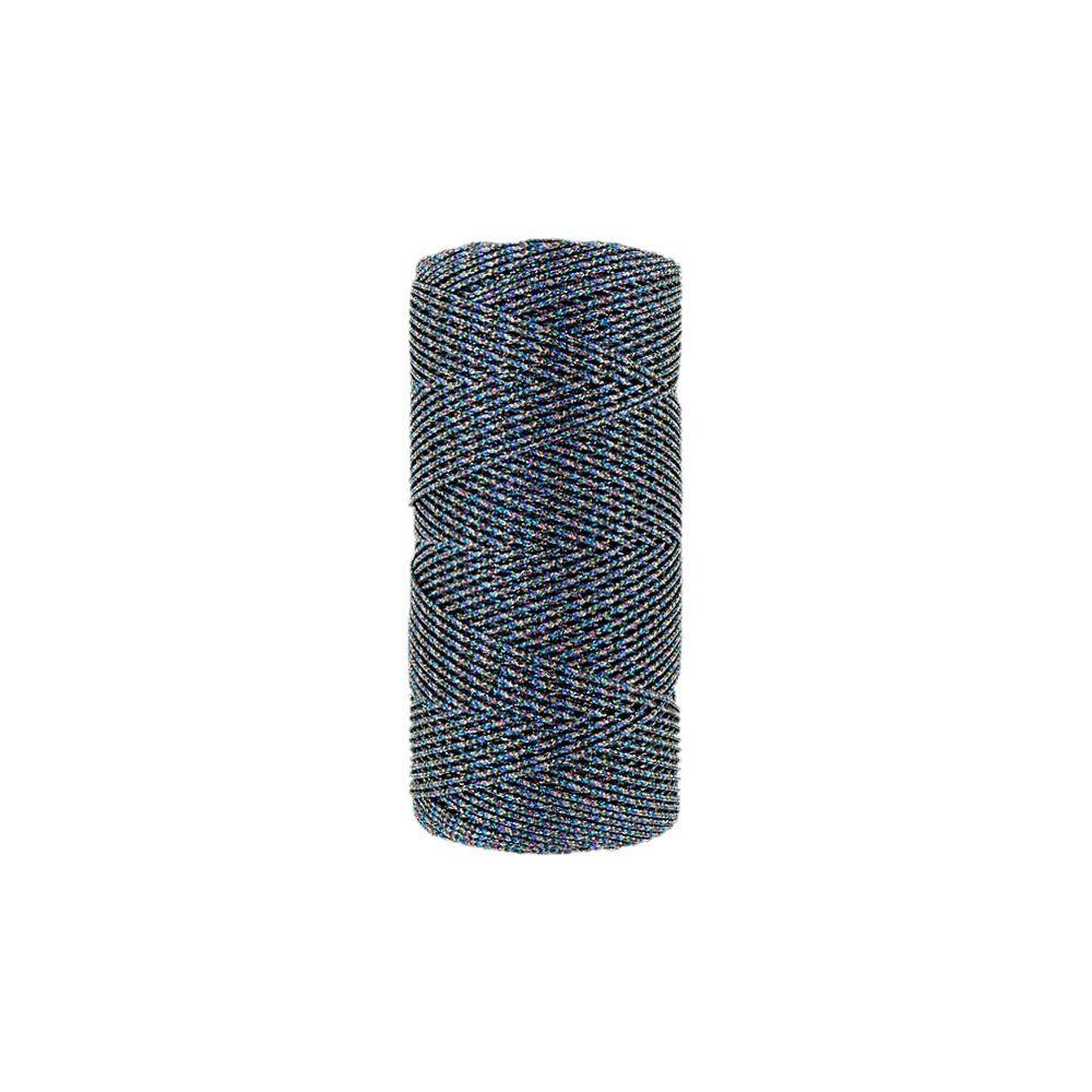 Cordão de Lurex - Color Mix Azul - 1mm - 100m  - Nathalia Bijoux®