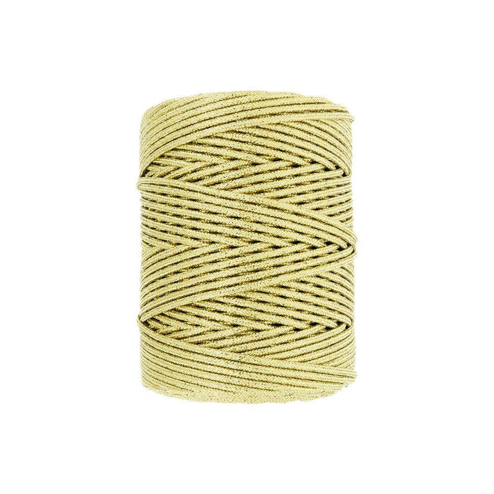 Cordão de Lurex - Ouro - 2mm - 100m  - Nathalia Bijoux®