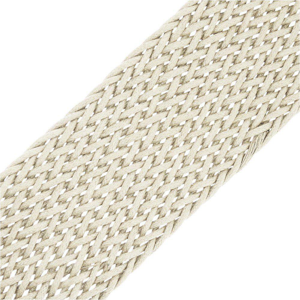 Cordão Encerado Trançado - Marfim - 58mm - 10m  - Nathalia Bijoux®