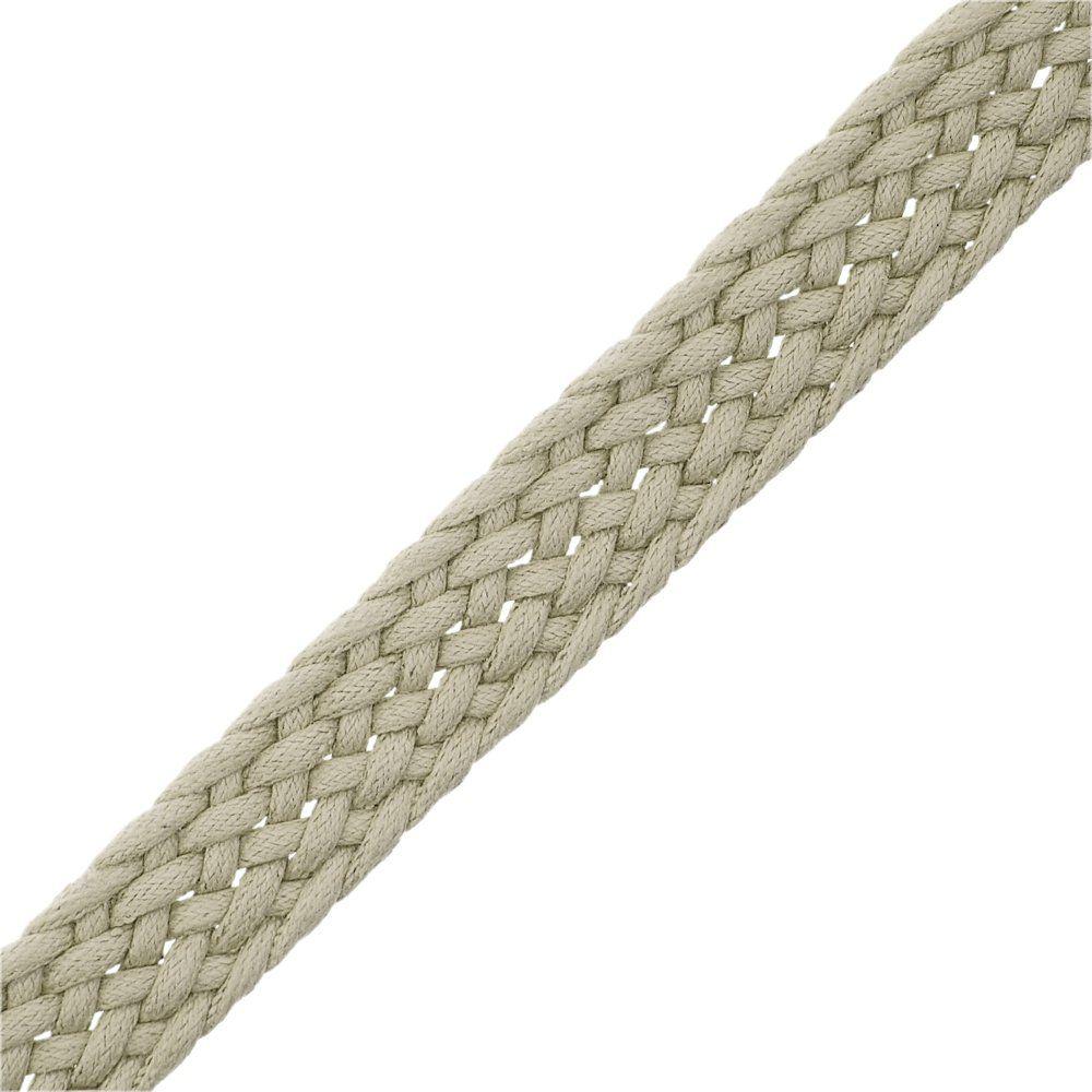 Cordão Encerado Trançado - Areia - 16mm - 25m  - Nathalia Bijoux®
