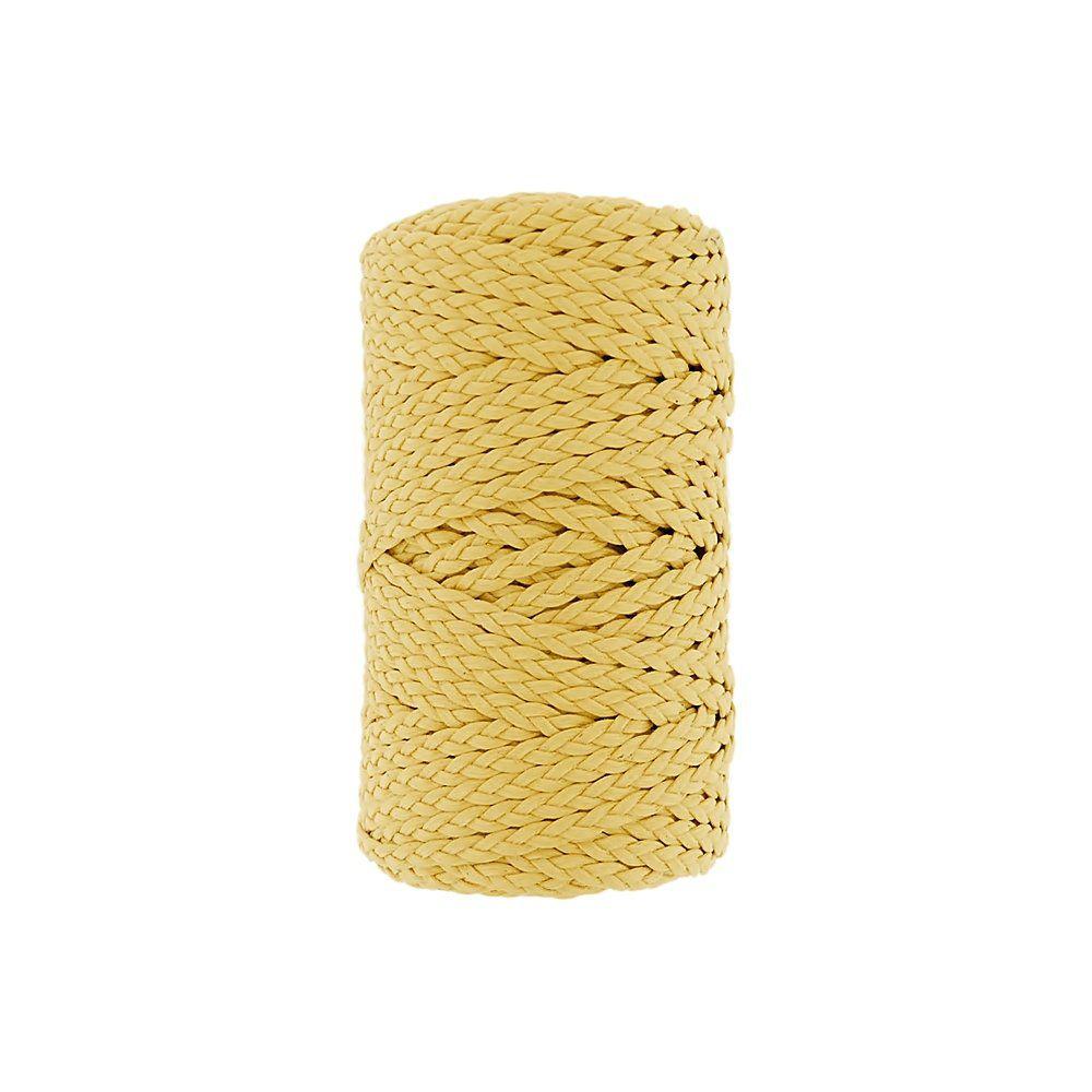 Cordão Encerado Trançado - Amarelo (011) - 5mm - 50m  - Nathalia Bijoux®