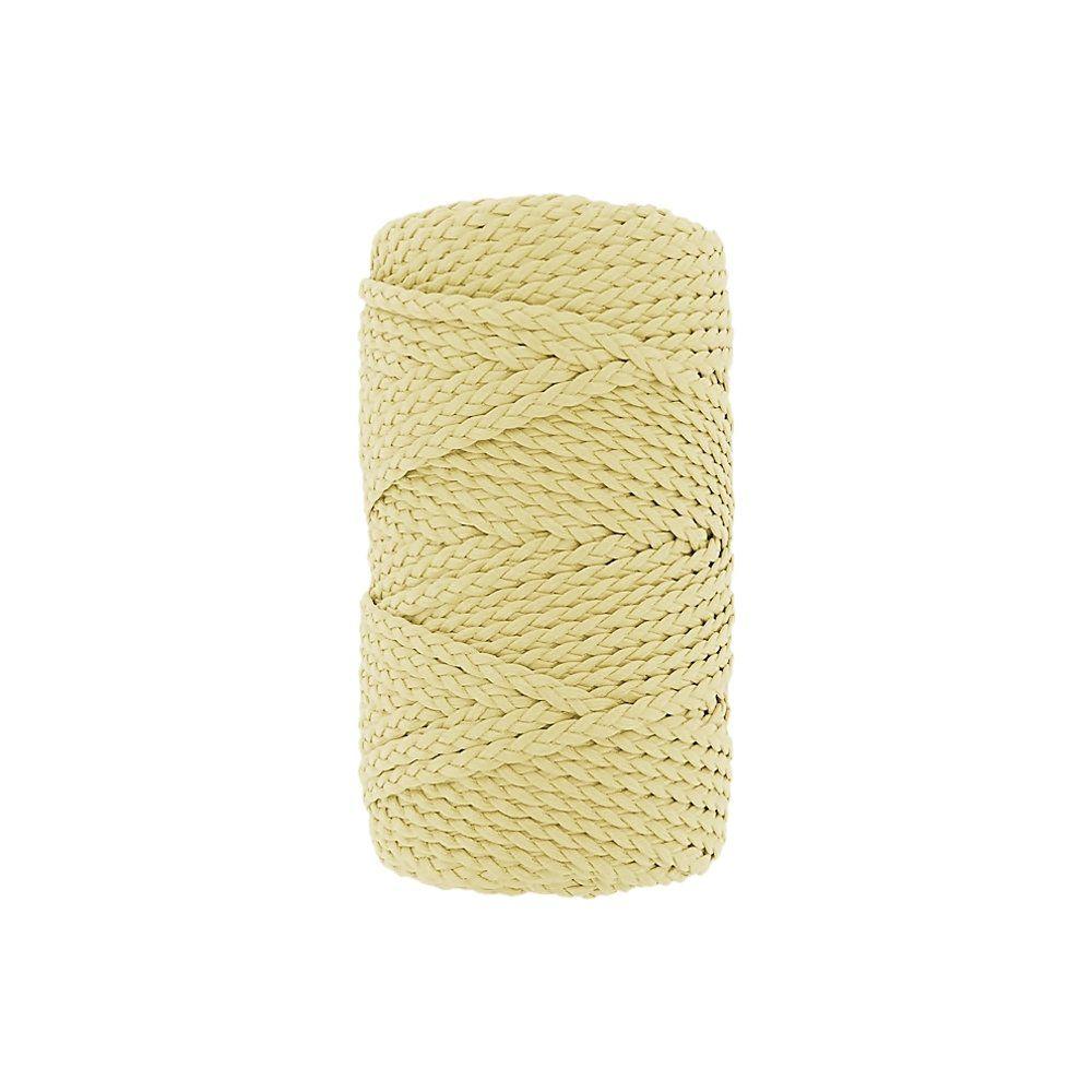 Cordão Encerado Trançado - Amarelo Bebê (401) - 5mm - 50m  - Nathalia Bijoux®