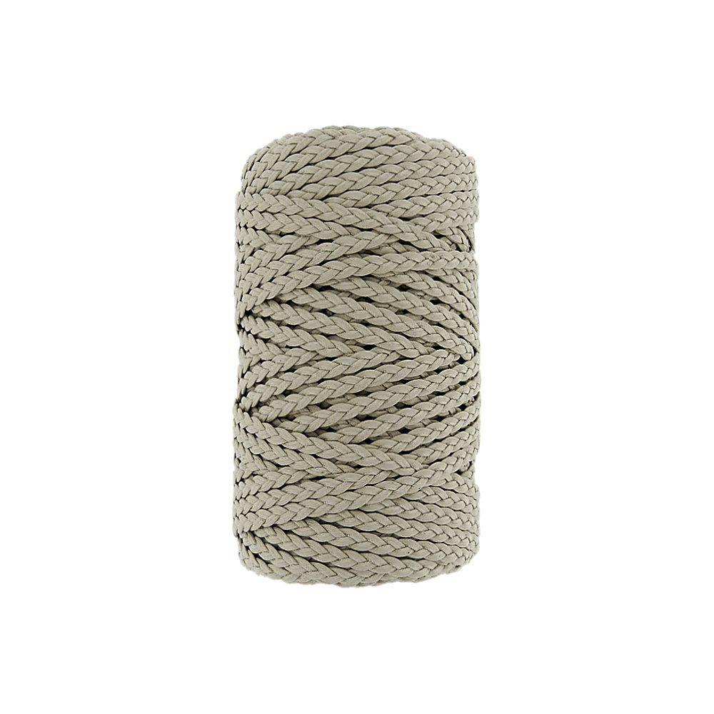 Cordão Encerado Trançado - Areia (434) - 5mm - 50m  - Nathalia Bijoux®