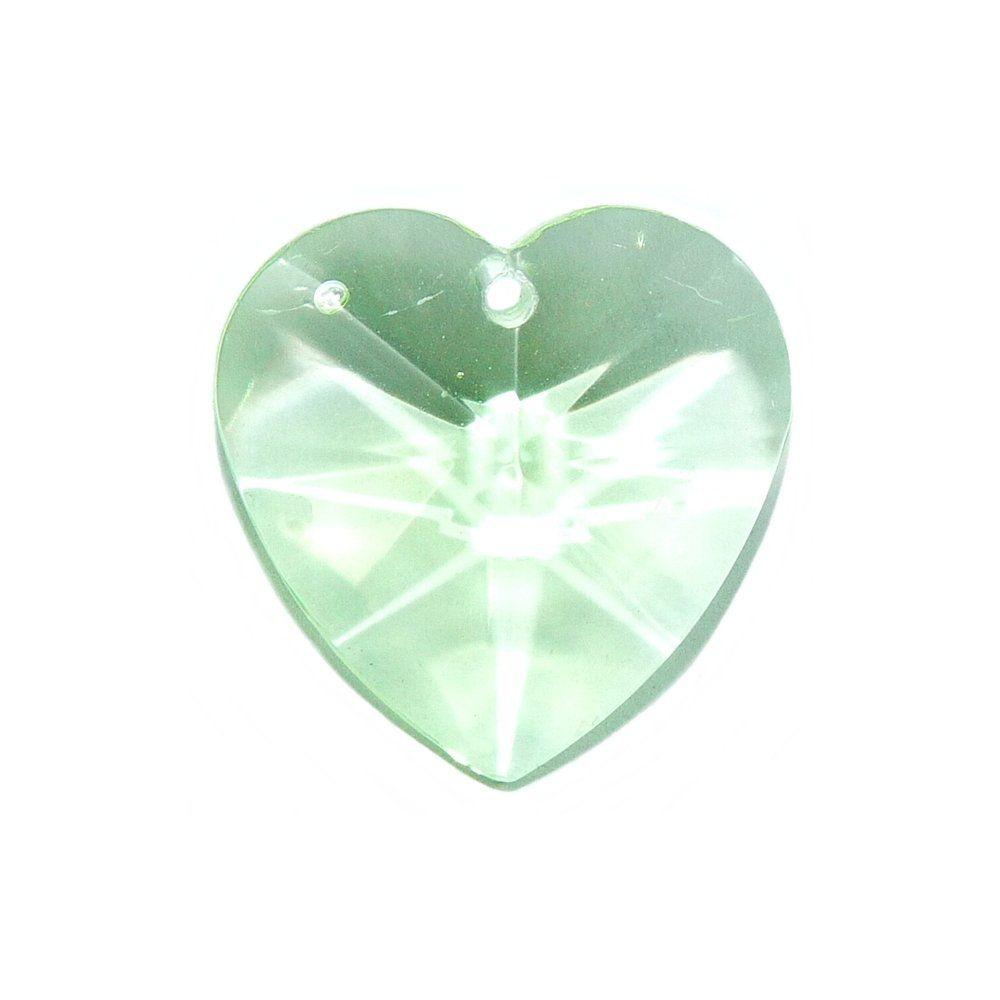 Pingente Coração de Cristal - 22mm  - Nathalia Bijoux®