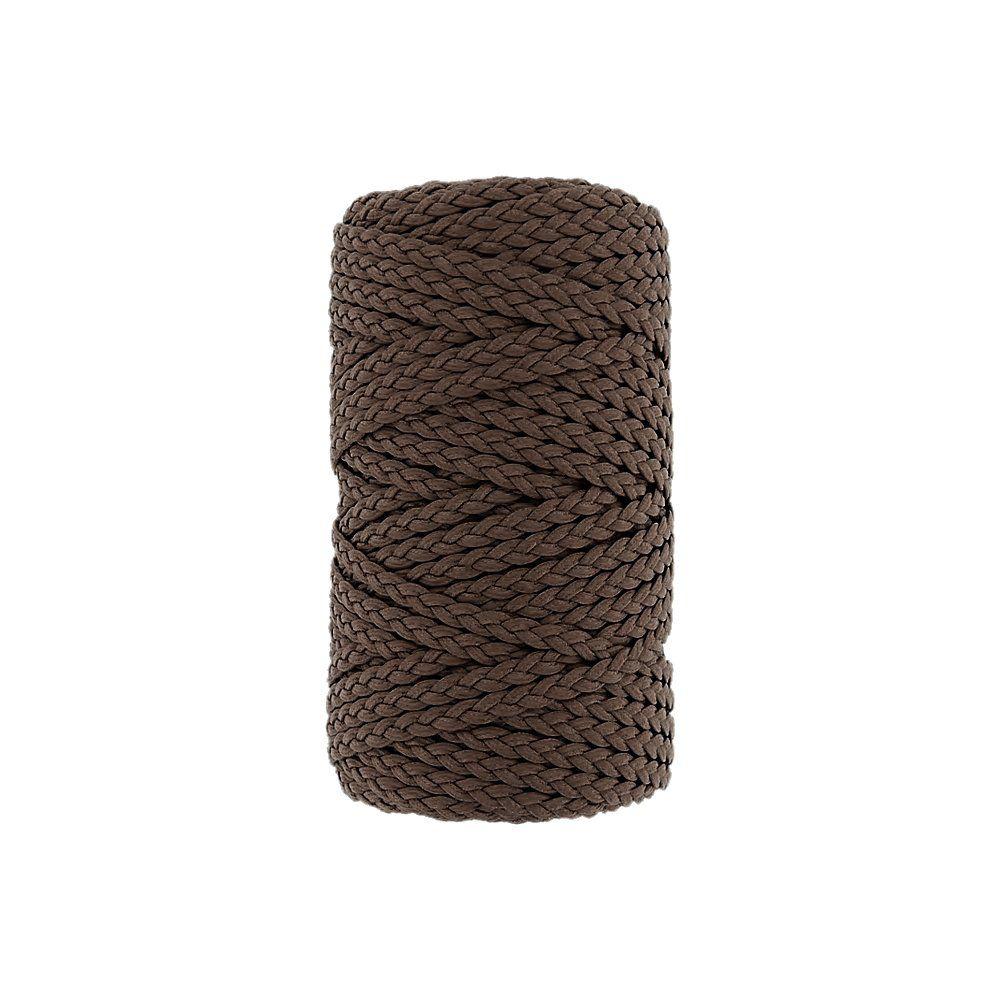Cordão Encerado Trançado - Coyote (352) - 5mm - 50m  - Nathalia Bijoux®