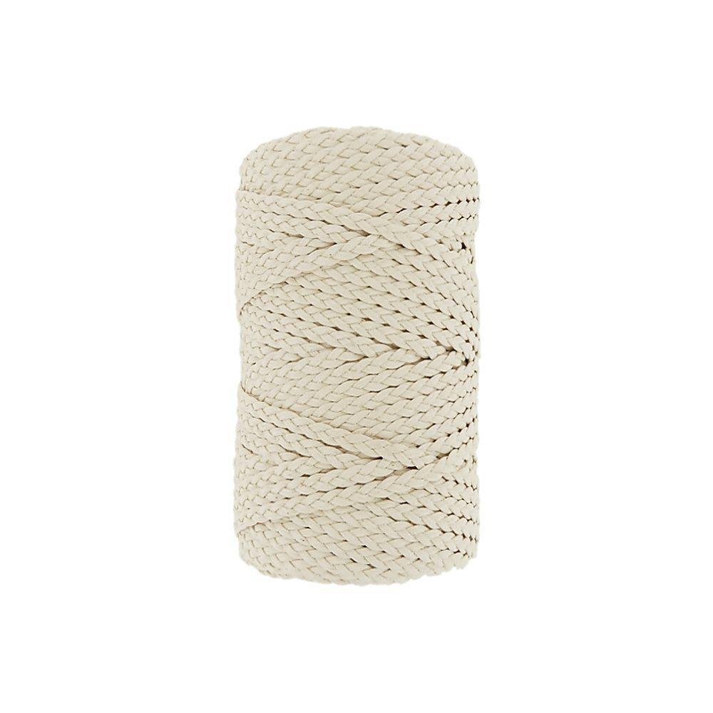 Cordão Encerado Trançado - Cru (100) - 5mm - 50m  - Nathalia Bijoux®