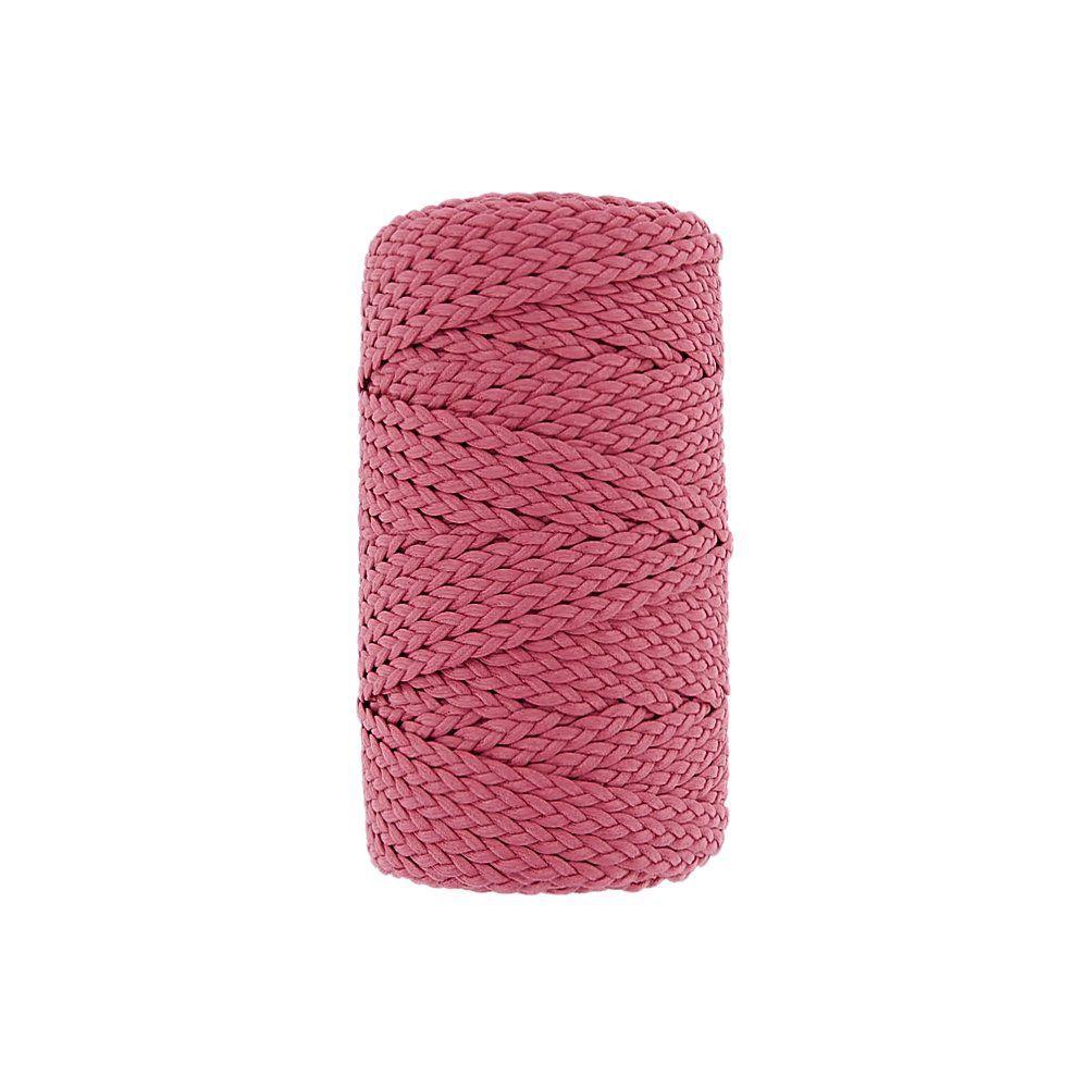 Cordão Encerado Trançado - Fúcsia (463) - 5mm - 50m  - Nathalia Bijoux®
