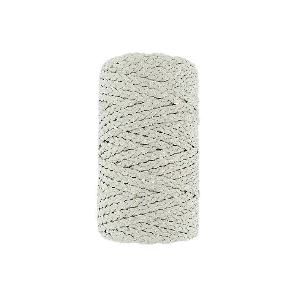 Cordão Encerado Trançado - Gelo (443) - 5mm - 50m  - Nathalia Bijoux®