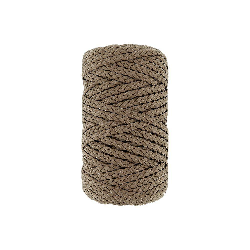 Cordão Encerado Trançado - Kaki Caribe (059) - 5mm - 50m  - Nathalia Bijoux®