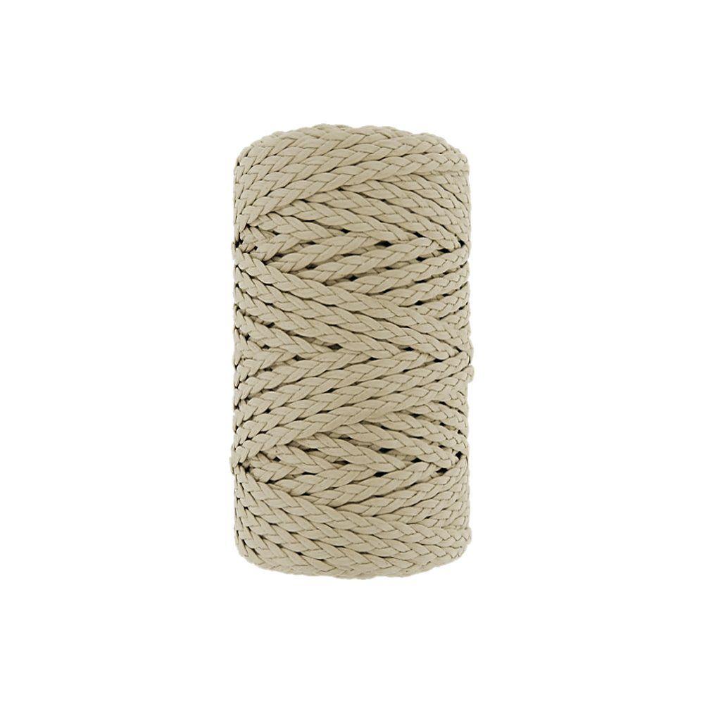 Cordão Encerado Trançado - Marfim (142) - 5mm - 50m  - Nathalia Bijoux®