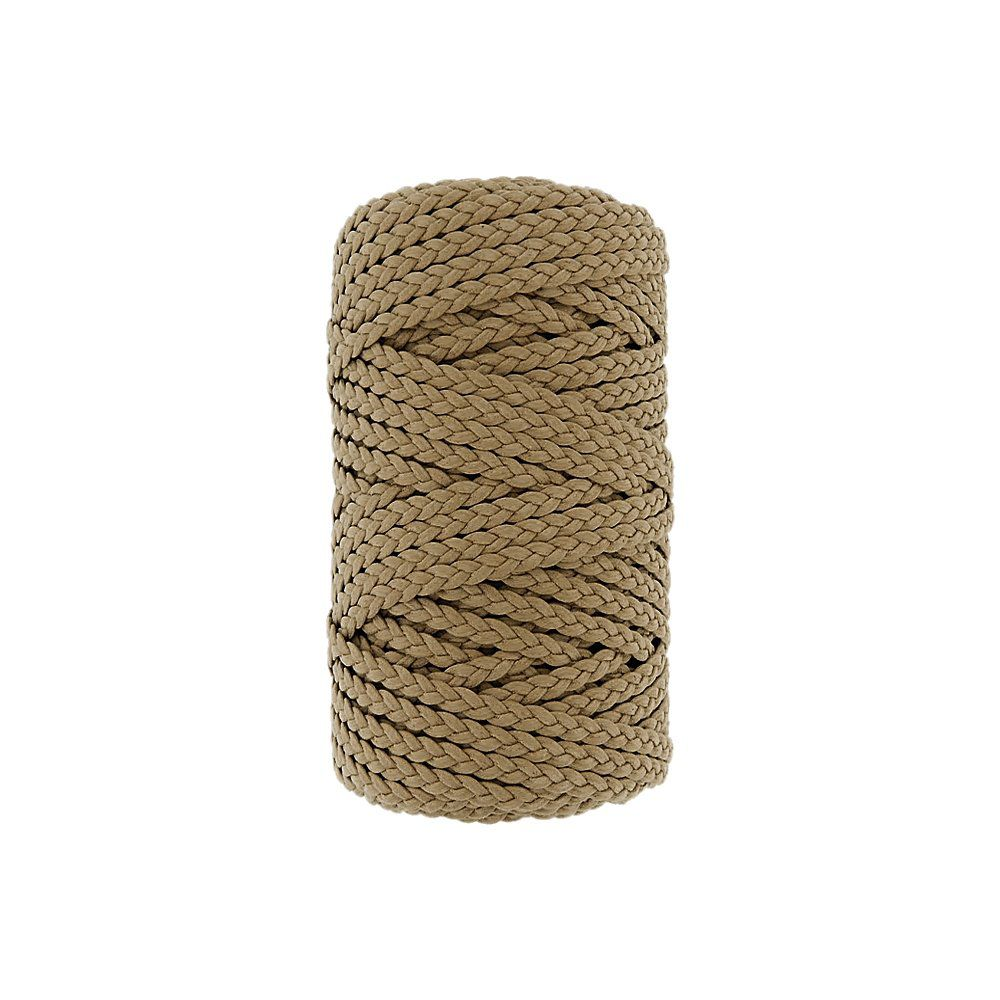 Cordão Encerado Trançado - Marfim (338) - 5mm - 50m  - Nathalia Bijoux®