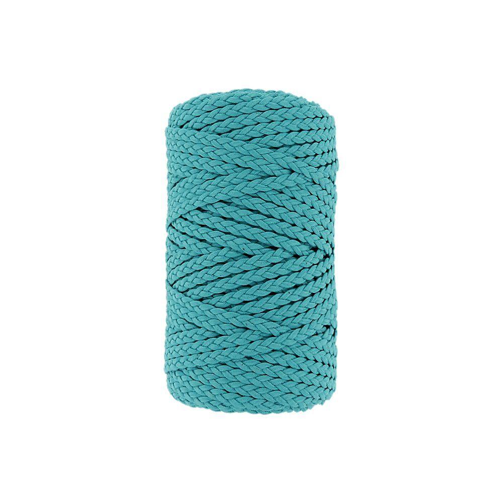 Cordão Encerado Trançado - Turquesa (071) - 5mm - 50m  - Nathalia Bijoux®