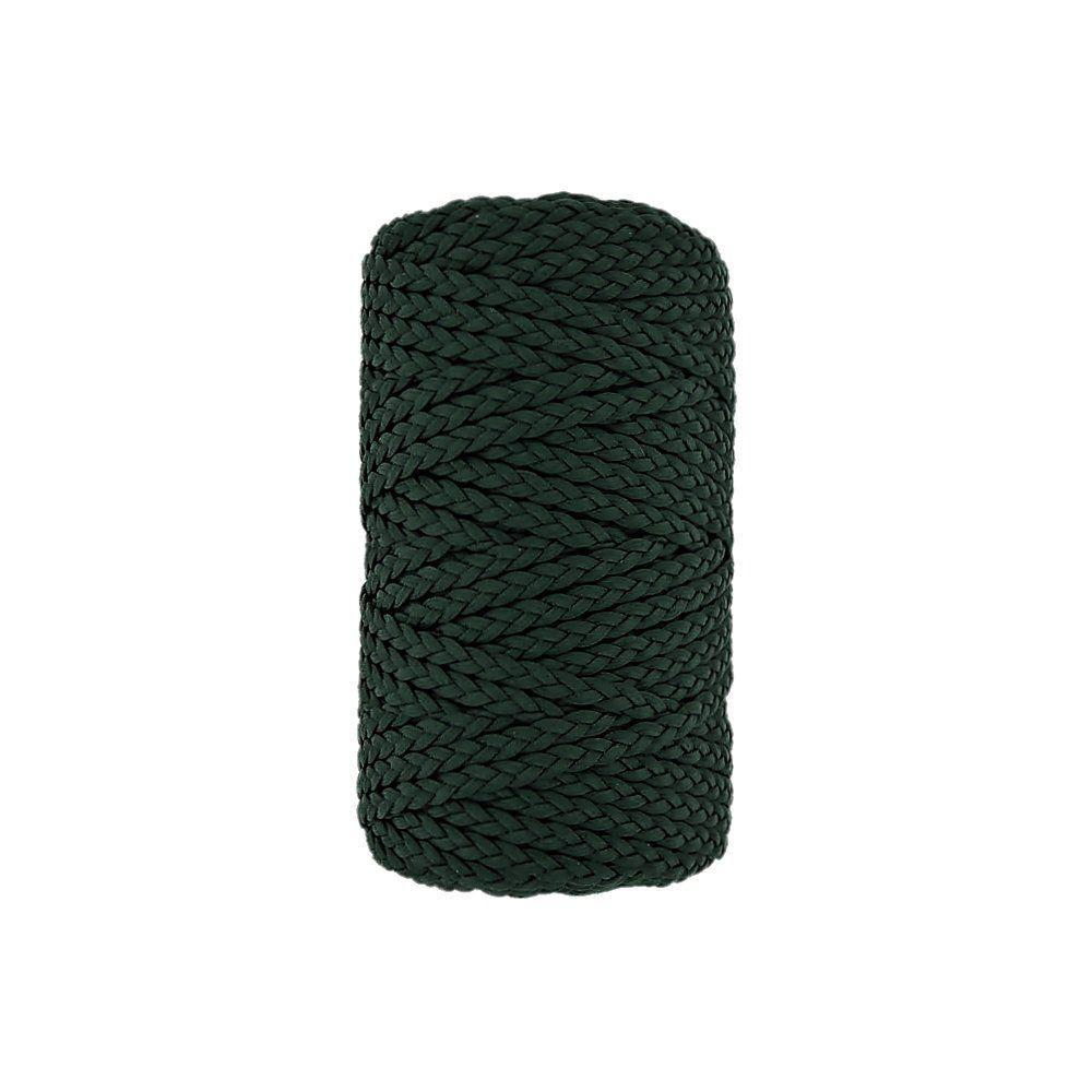 Cordão Encerado Trançado - Verde (370) - 5mm - 50m  - Nathalia Bijoux®