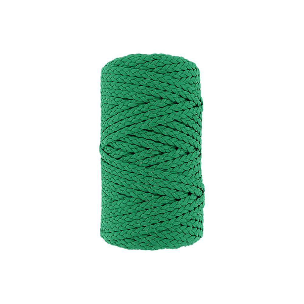 Cordão Encerado Trançado - Verde (476) - 5mm - 50m  - Nathalia Bijoux®
