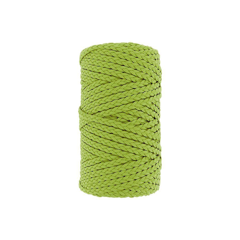 Cordão Encerado Trançado - Verde Cítrico (459) - 5mm - 50m  - Nathalia Bijoux®