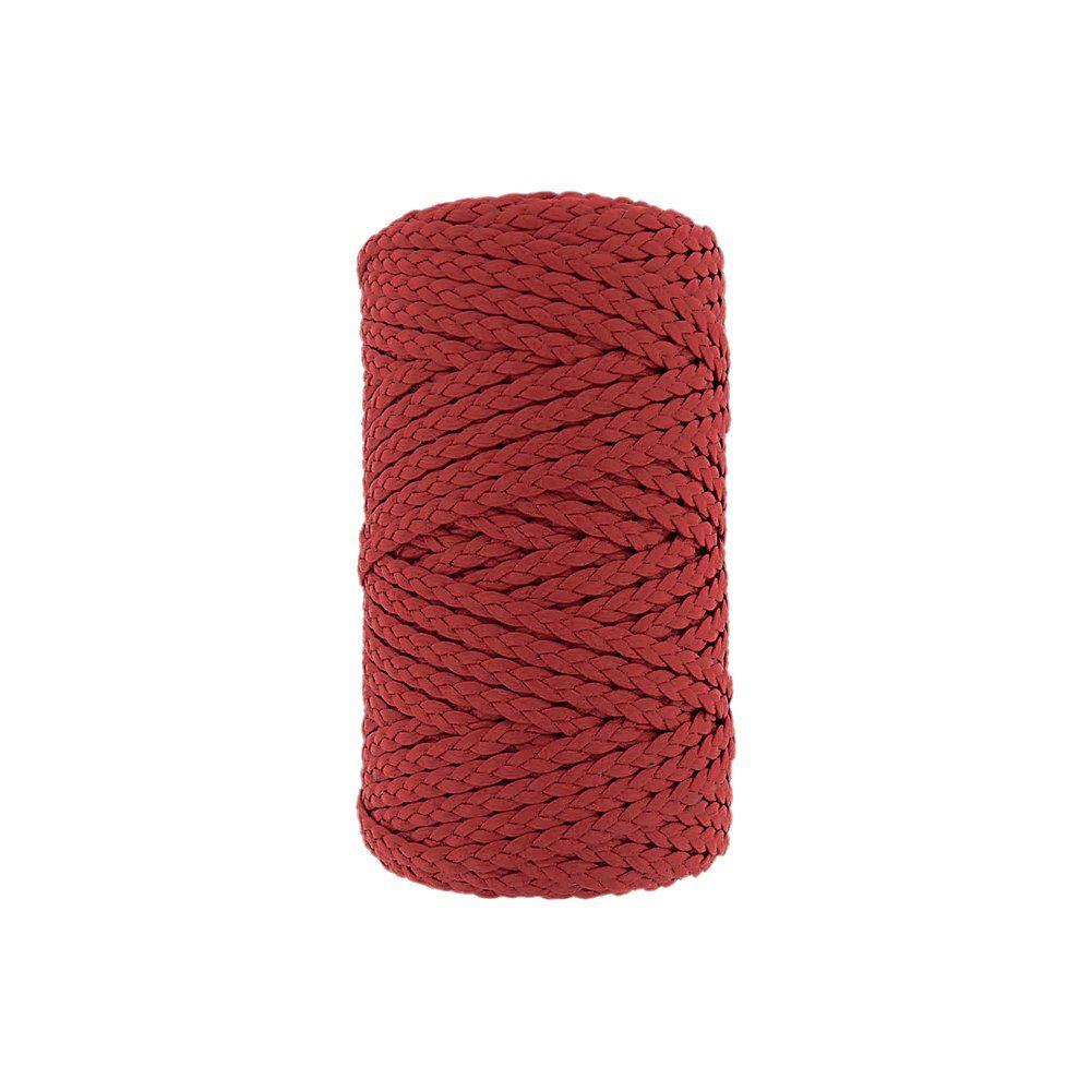 Cordão Encerado Trançado - Vermelho (005) - 5mm - 50m  - Nathalia Bijoux®