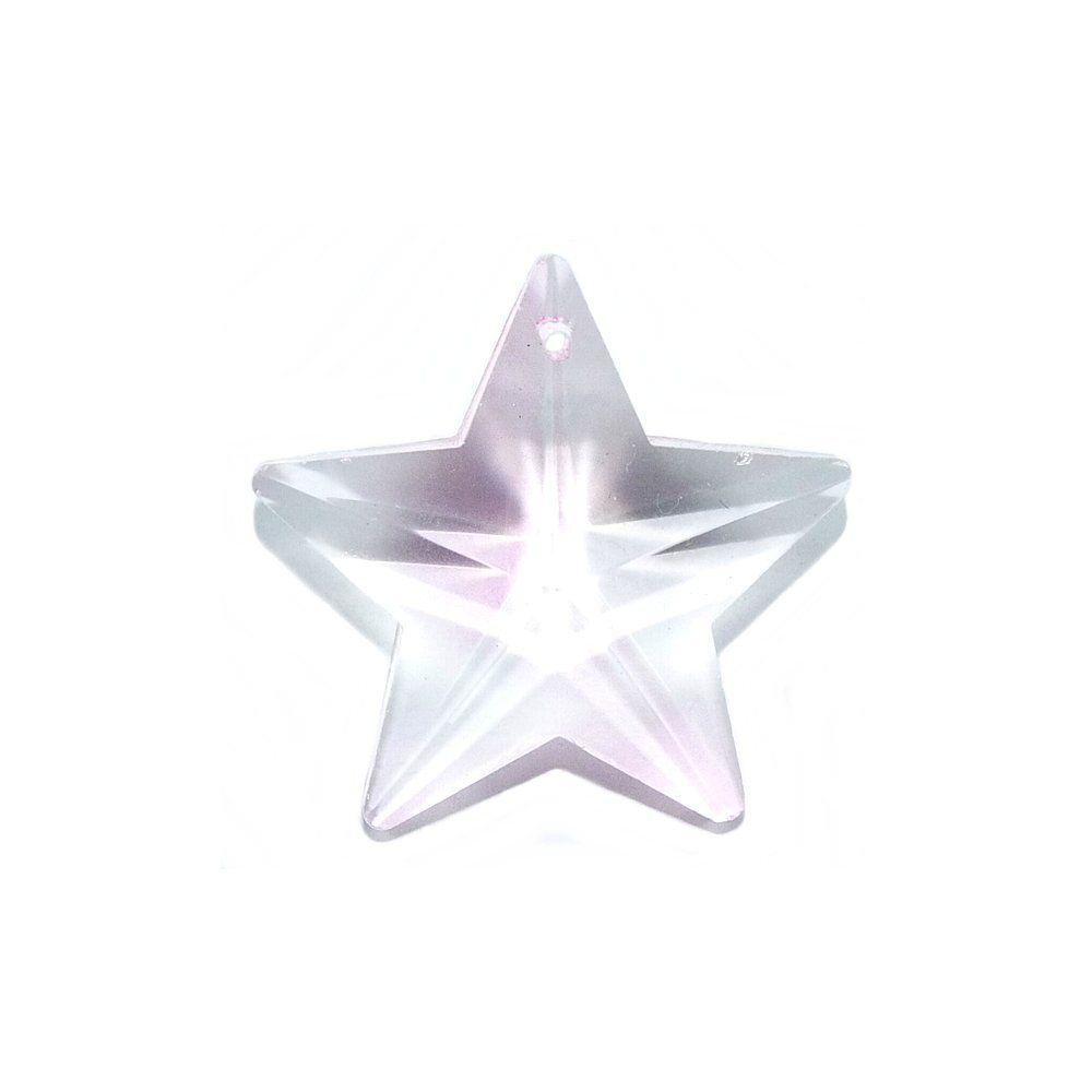 Pingente Estrela de Cristal - 30mm  - Nathalia Bijoux®
